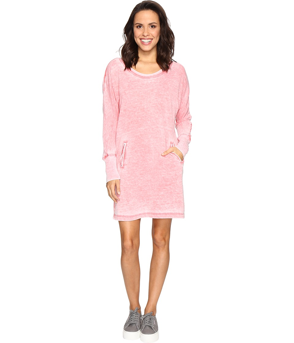 Allen Allen Long Sleeve Dolman Two-Pocket Dress (Begonia) Women