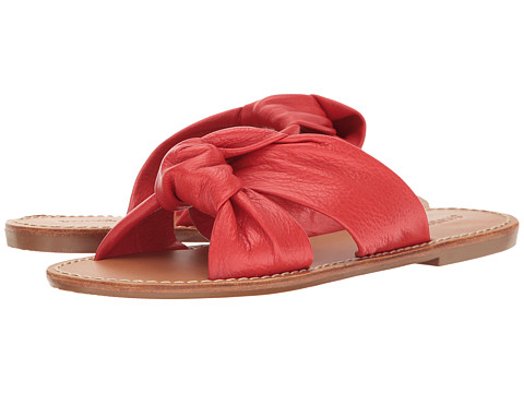 Soludos Knotted Slide Sandal - Fire Red
