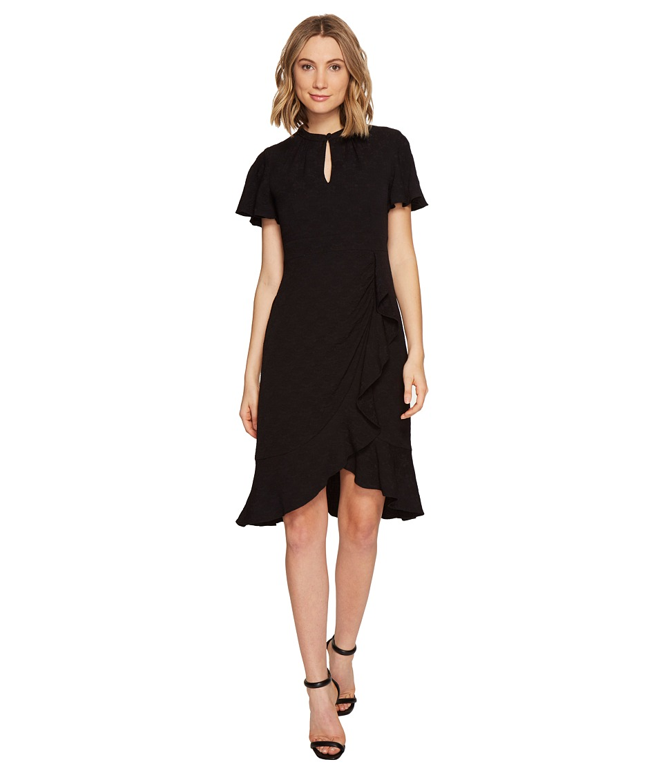 Nanette Lepore Flirty Flutter Dress (Black) Women