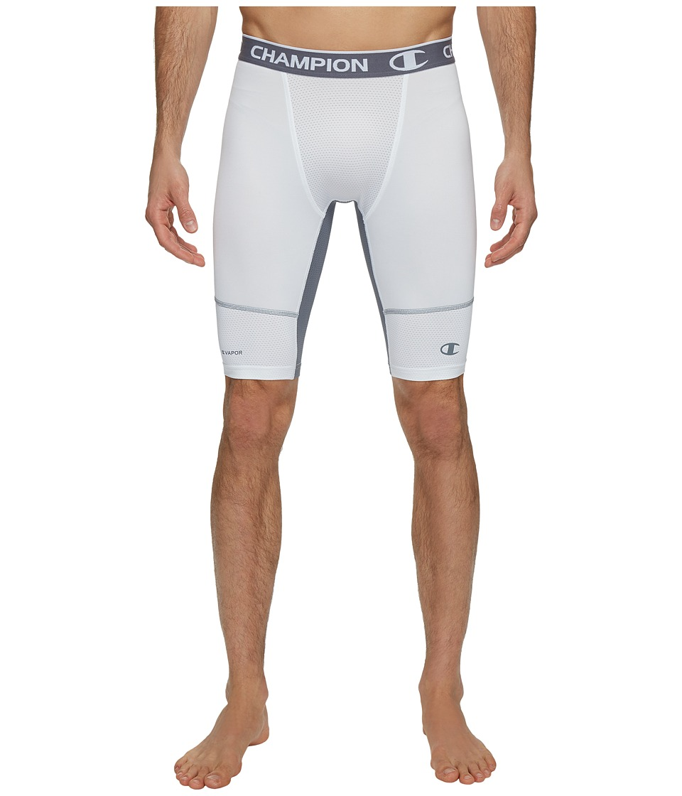 Champion Power Flex 9 Compression Shorts (White/Stormy Night) Men