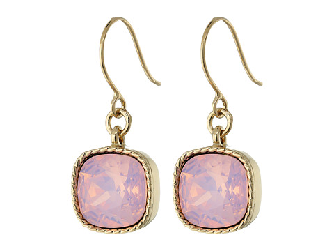 Nina Perla Opal Crystal Drop Earrings - Gold/Rose Water Opal Swarovski