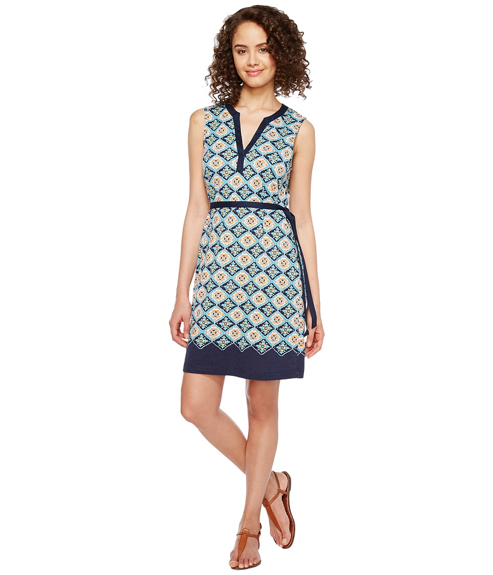 Tommy Bahama Triada Tiles Sleeveless Short Dress (California Poppy) Women