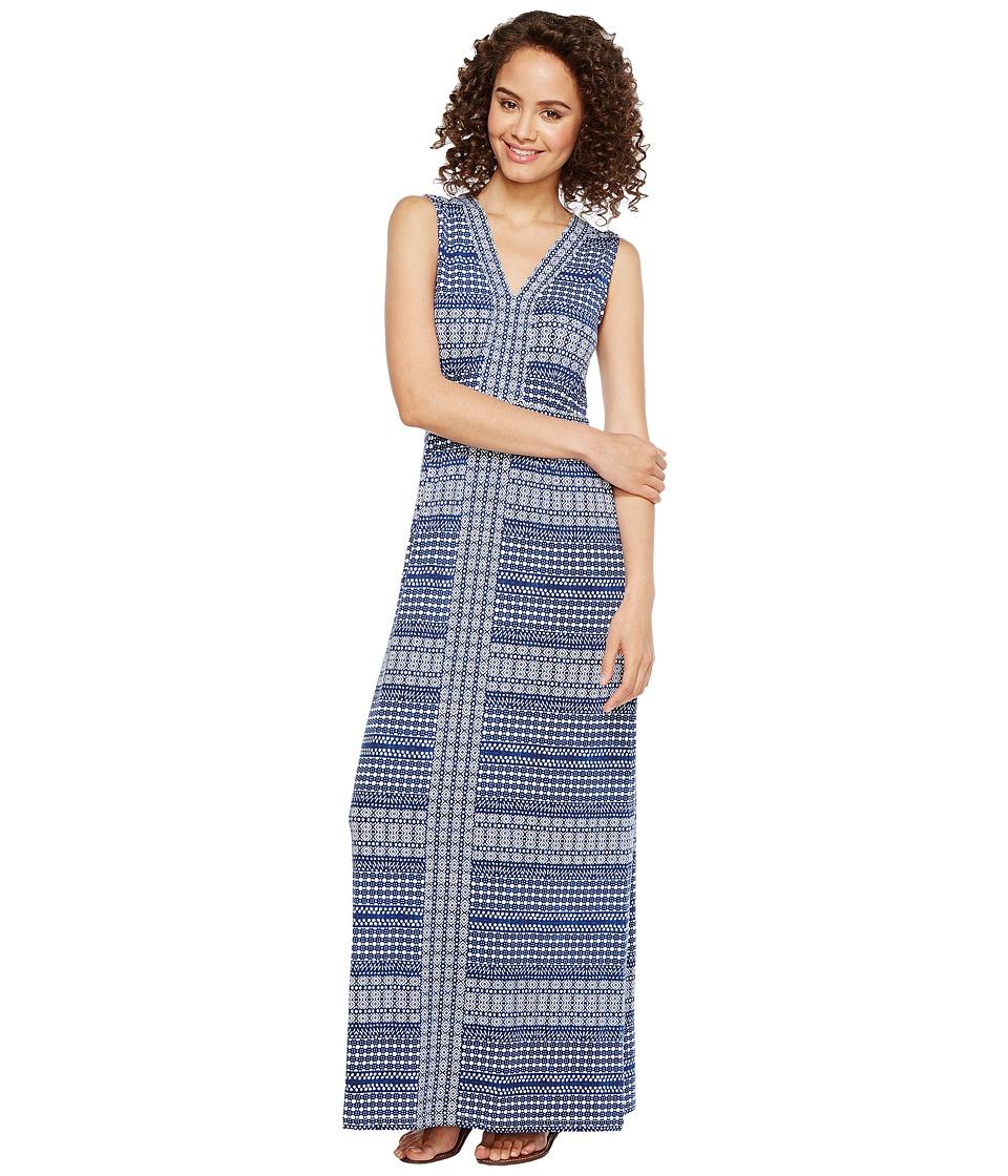 Tommy Bahama Greek Grid Sleeveless Maxi Dress (Kingdom Blue) Women