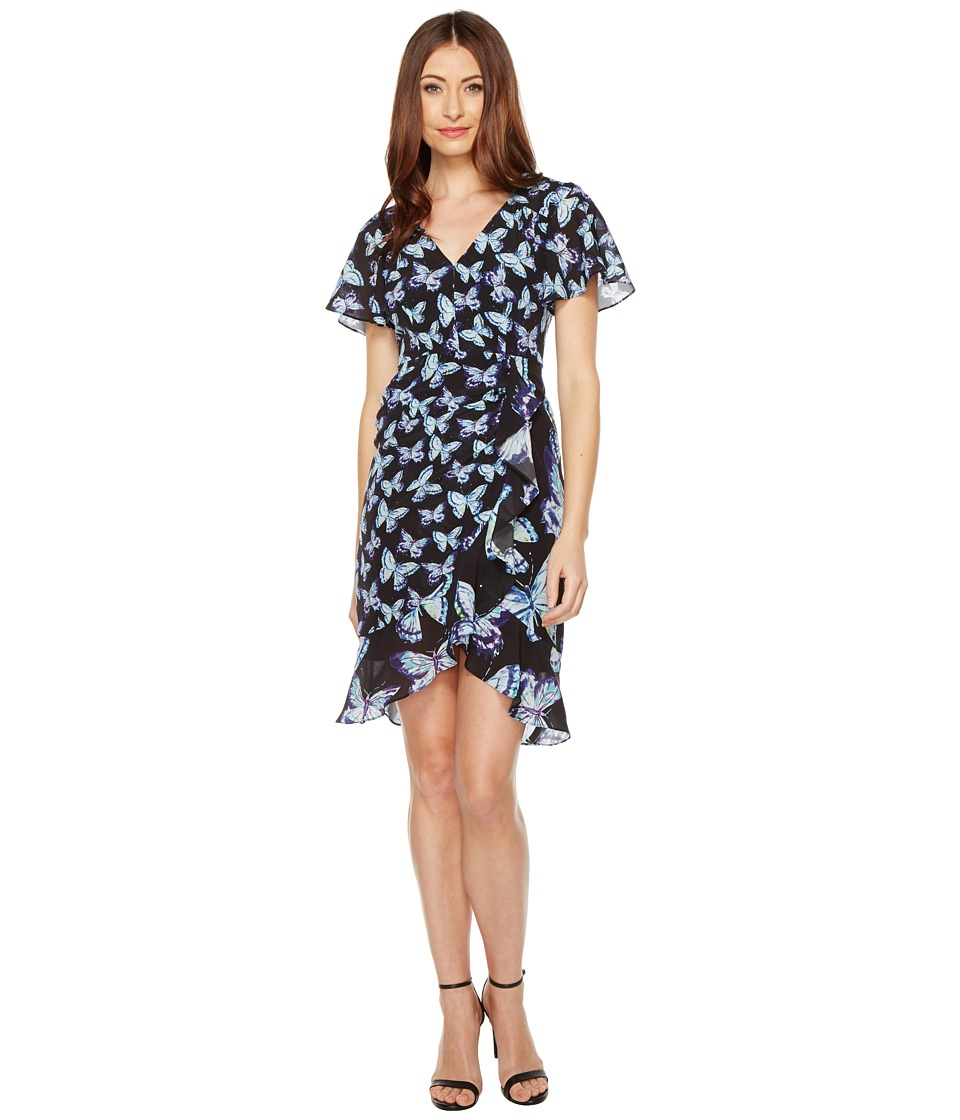 Nanette Lepore Mariposa Dress (Black Multi) Women