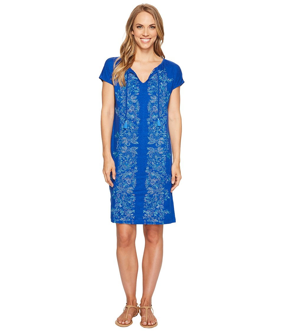 Tommy Bahama Vines of Vothono Short Sleeve Short Dress (Old Royal) Women