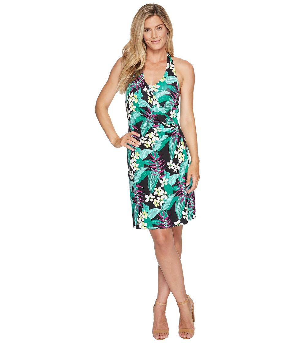 Tommy Bahama Livia Leaves Short Dress (Black) Women