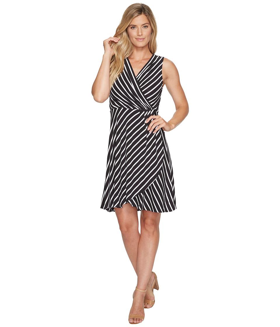 Tommy Bahama Portside Stripe Short Dress (Black) Women