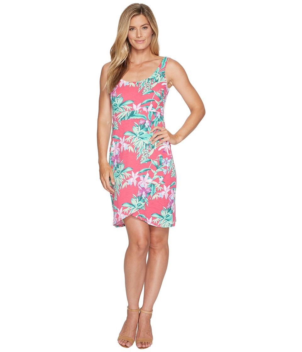 Tommy Bahama Floriana Huffington Sleeveless Short Dress (Raspberry Sorbet) Women