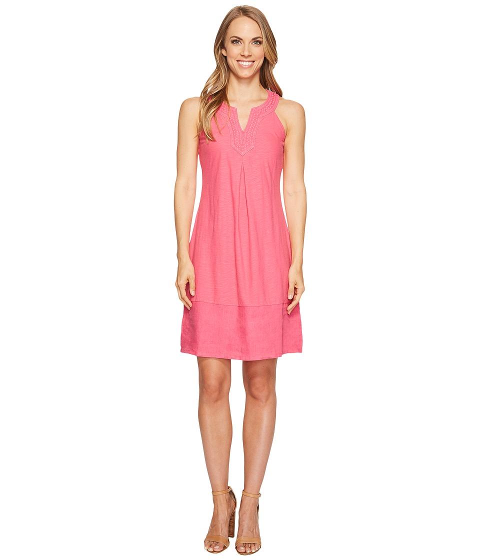 Tommy Bahama Arden Embroidered Sleeveless Short Dress (Raspberry Sorbet) Women