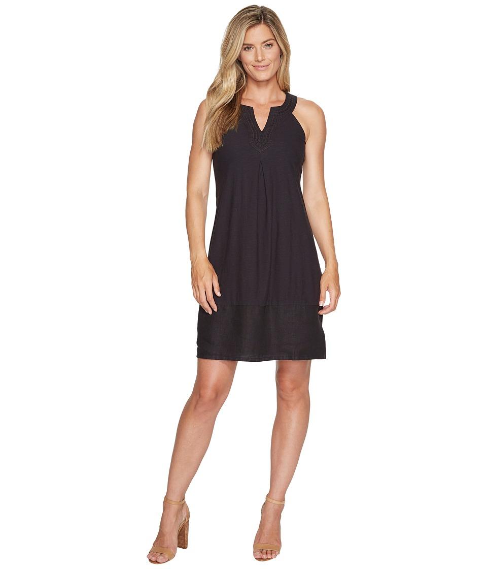 Tommy Bahama Arden Embroidered Sleeveless Short Dress (Black) Women