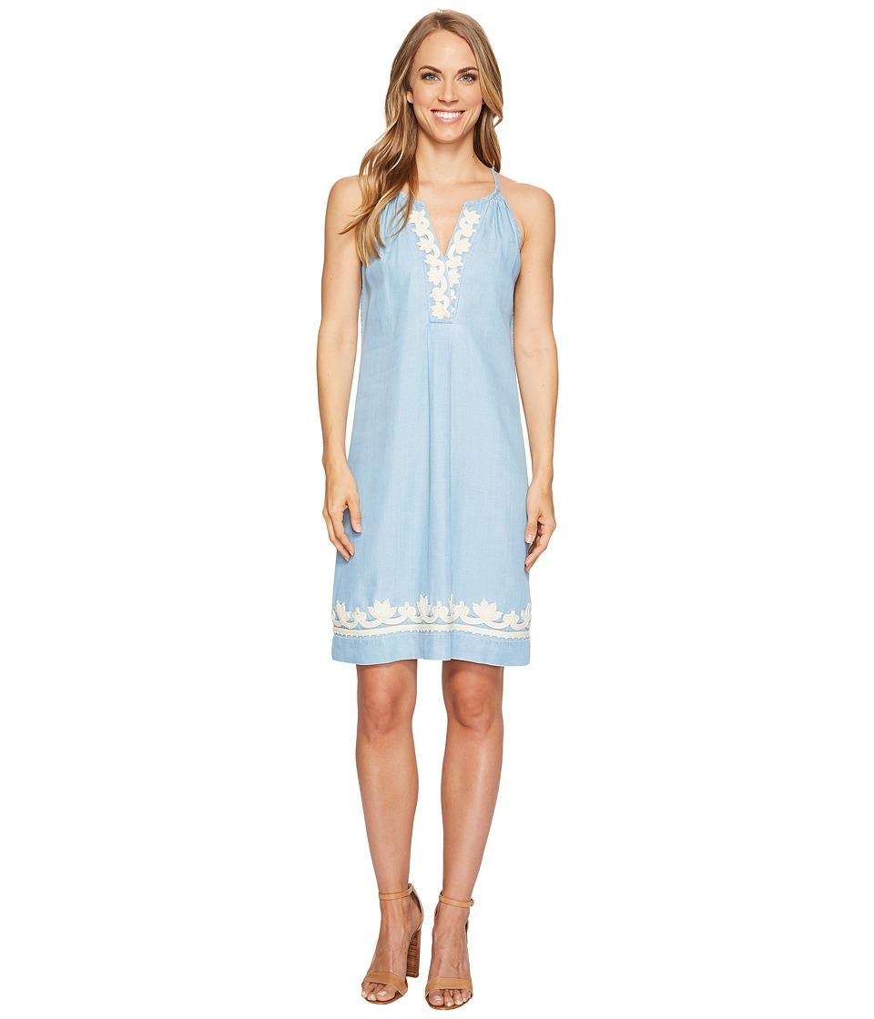 Tommy Bahama Chambray Short Halter Dress (Light Storm Wash) Women