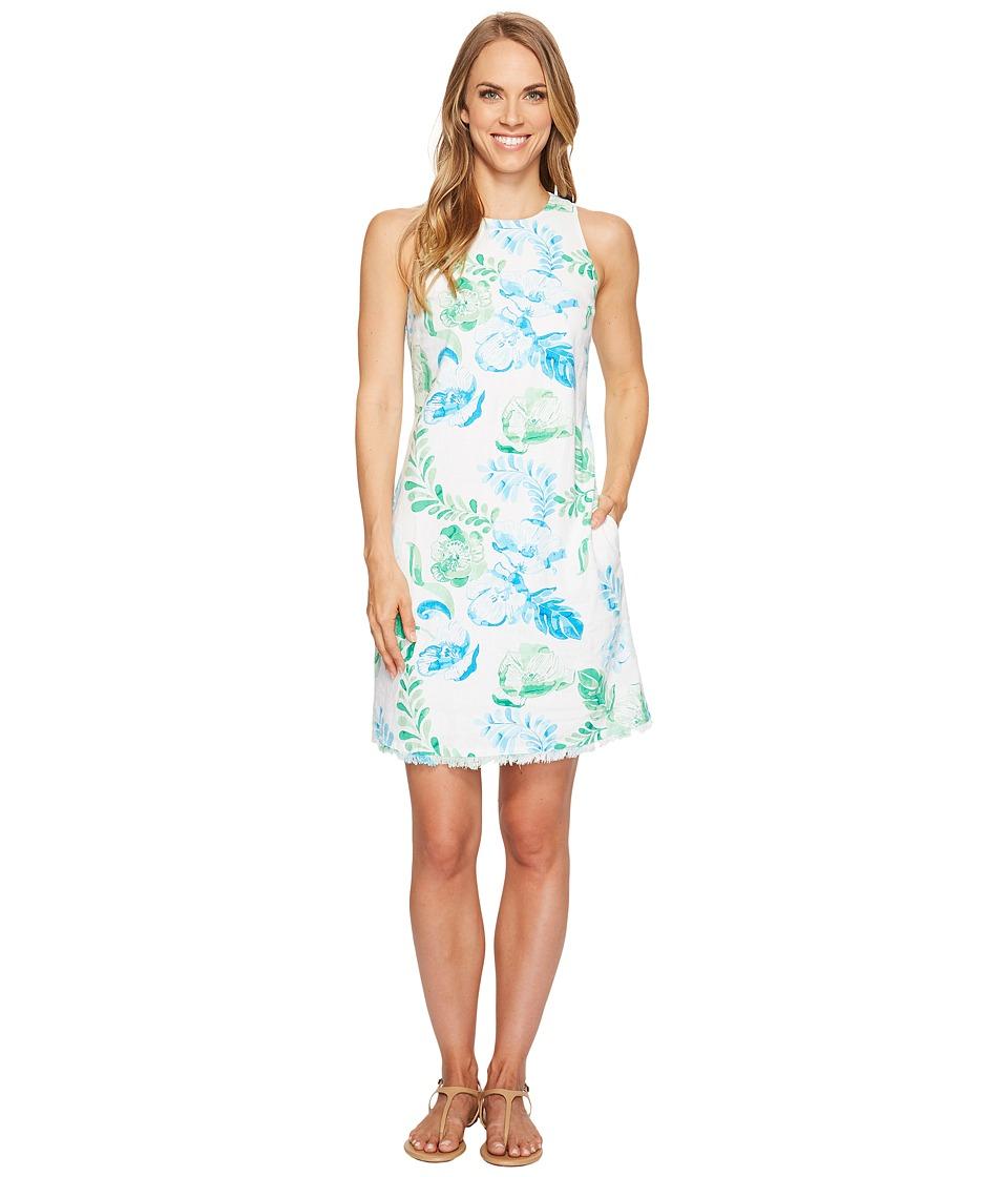 Tommy Bahama Florals Falling Sleeveless Short Dress (Jadite) Women