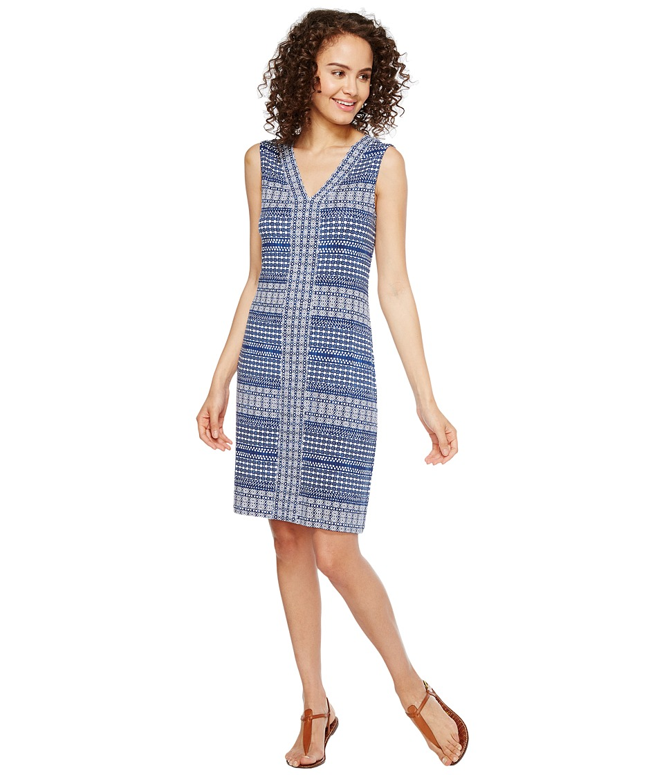 Tommy Bahama Greek Grid Short Sleeveless Dress (Kingdom Blue) Women