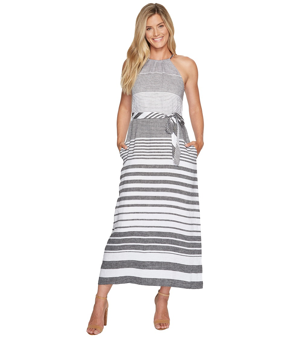 Tommy Bahama Opal Stripe Halter Maxi Dress (Black) Women'...