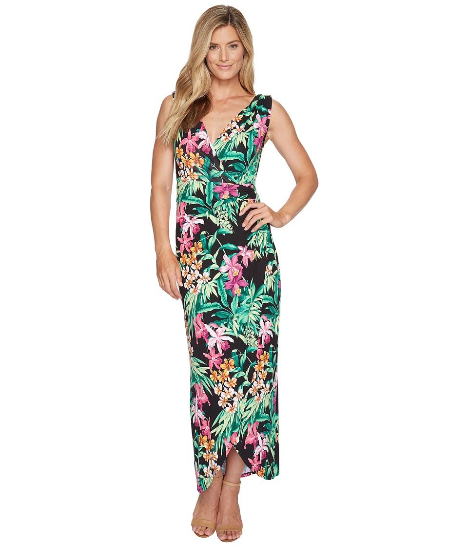 Tommy Bahama Floriana Huffington Maxi Dress (Black) Women