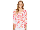 Florals Falling 3/4 Sleeve Top