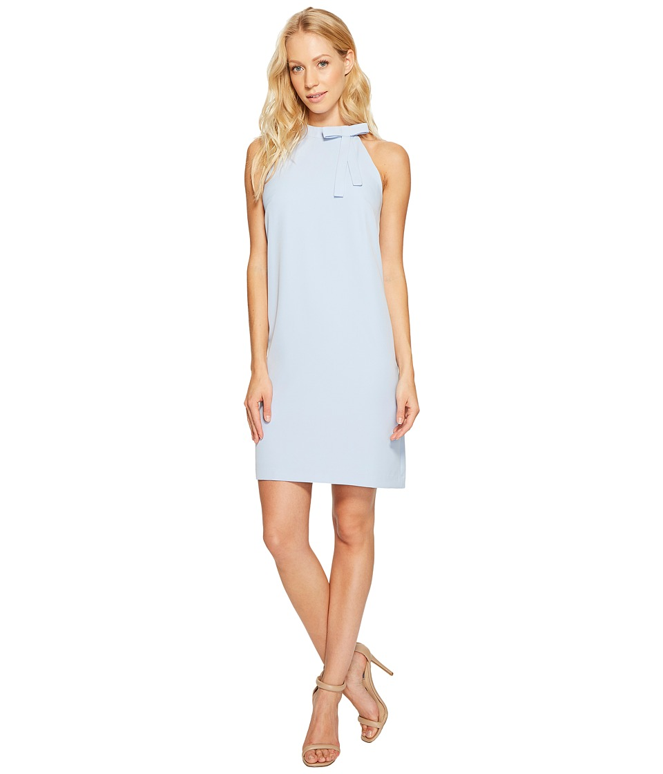 Maggy London Halter Shift Dress with Necktie (Sky Blue) Women