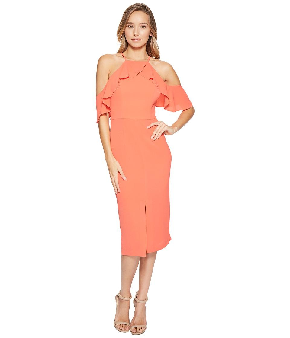 Maggy London - Cold-Shoulder Ruffle Sheath Dress