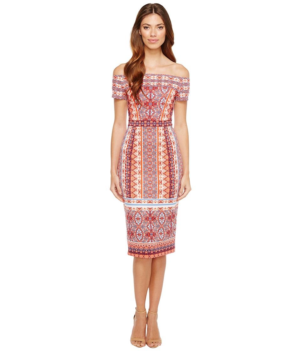 Maggy London - Off the Shoulder Scuba Midi Dress