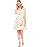 Maggy London - Print Broccade Fit & Flare Dress