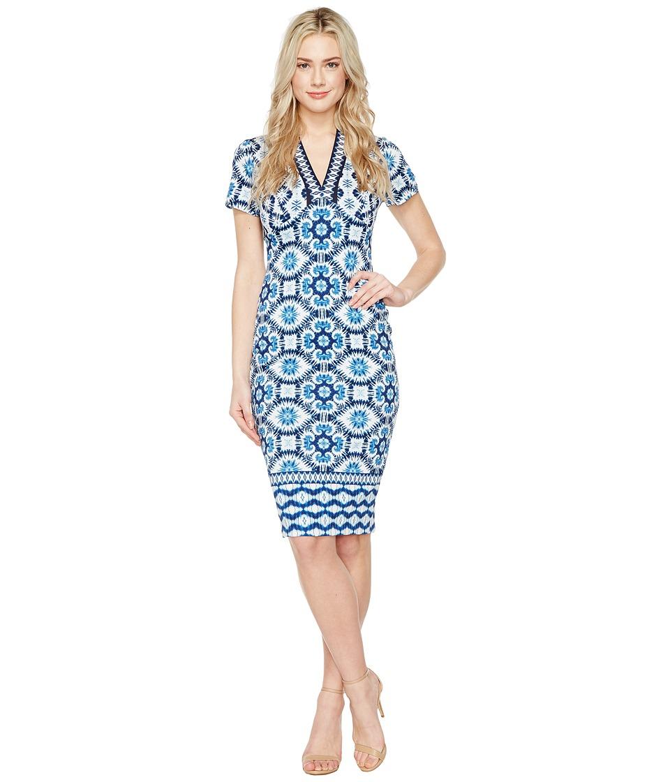 Maggy London - V-Neck Sheath Dress