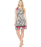 Maggy London - Print Scuba Fit and Flare Dress