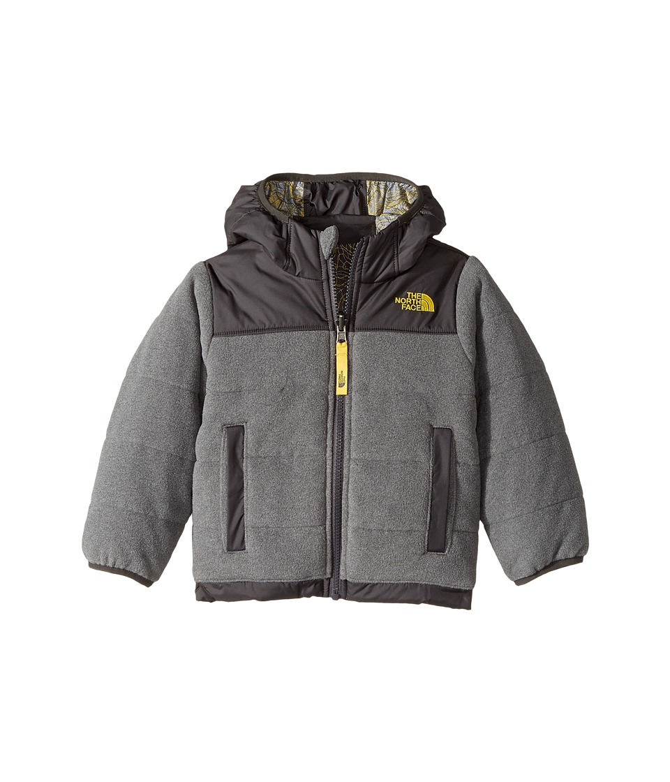 The North Face Kids Reversible True Or False Jacket (Toddler) (TNF Medium Grey Heather/Graphite Grey) Boy