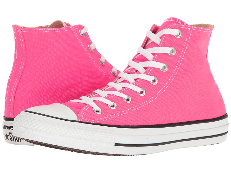 Converse Chuck Taylor(r) All Star(r) Seasonal Color Hi (Pink Pow) Lace up casual Shoes