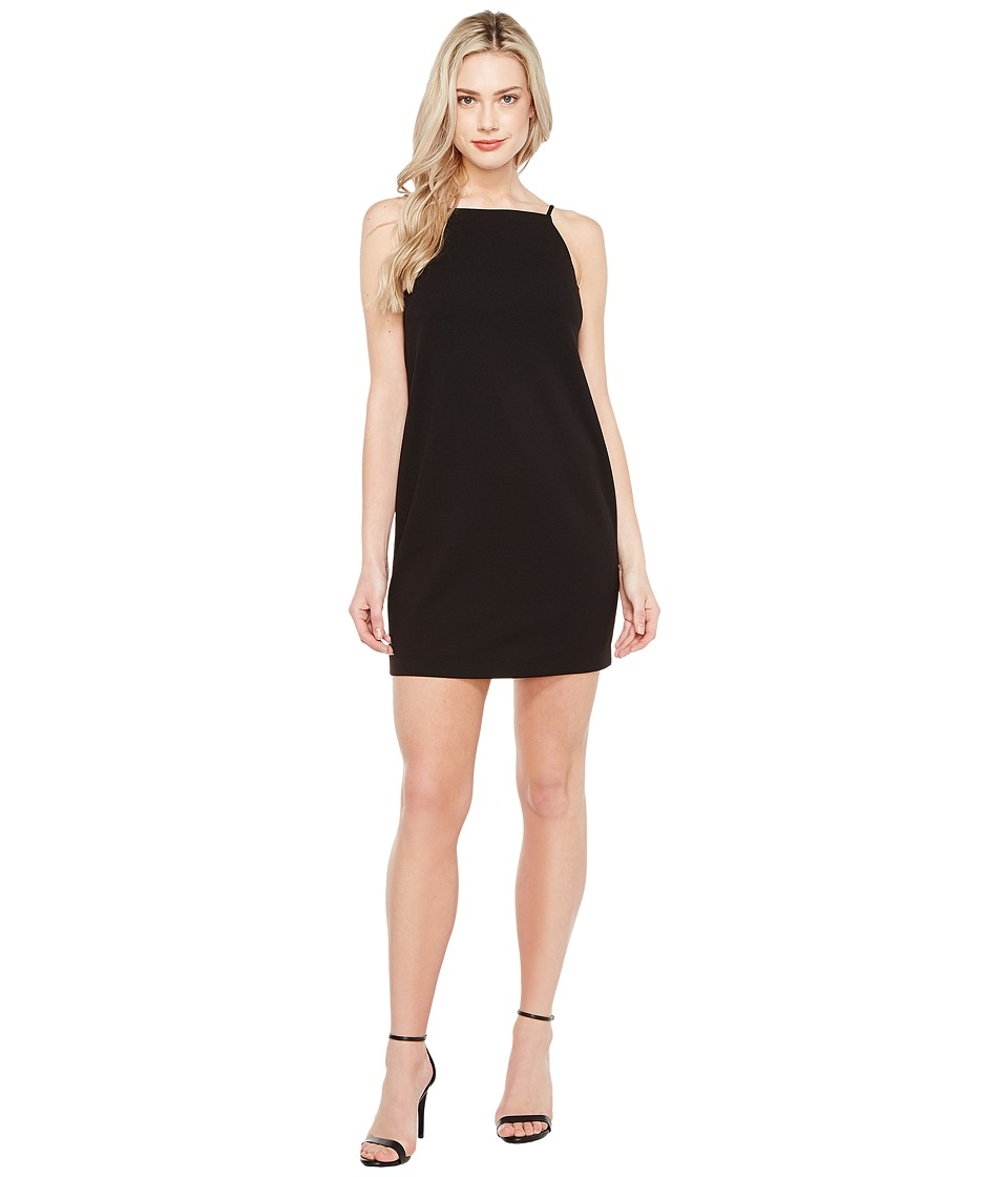 Maggy London - Open Back Crepe Scuba Shift Dress (Black) Womens Dress