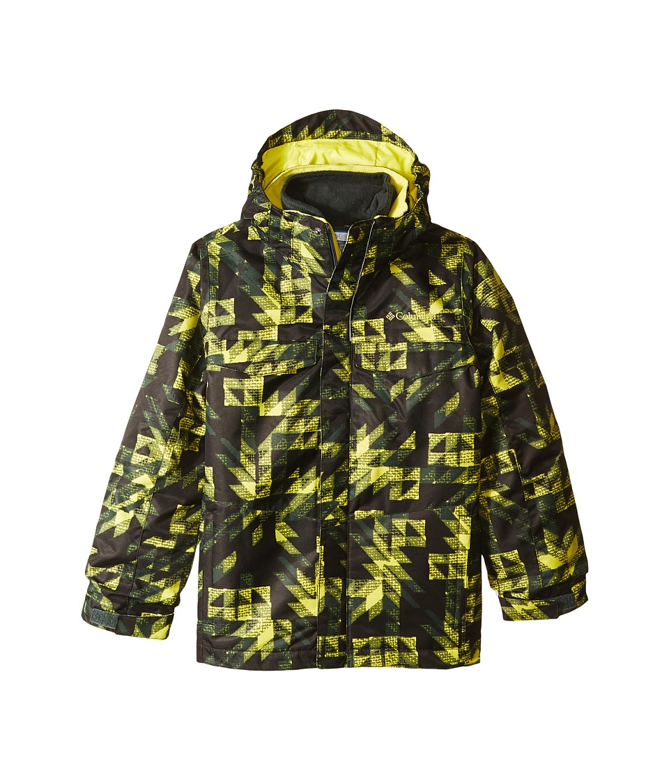 Columbia Kids - Bugabootm Interchange (Little Kids/Big Kids) (Deep Woods Checkers Print/Ginkgo) Boys Coat
