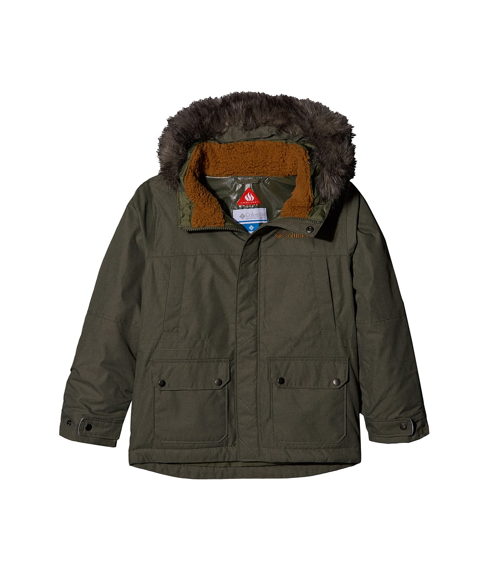 Columbia Kids Snowfield Jacket (Little Kids/Big Kids) (Cypress Heather/Maple) Boy