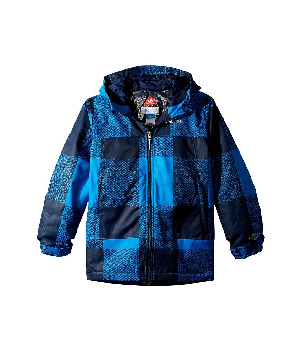 Columbia Kids - Wrecktangle Jacket (Little Kids/Big Kids) (Super Blue Plaid/Collegiate Navy) Boys Coat