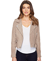 Blank NYC - Suede Moto Jacket in Sand Stoner
