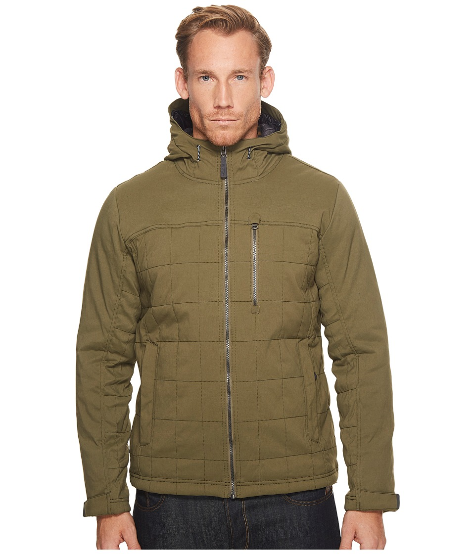 Prana - Zion Quilted Jacket (Cargo Green) Mens Coat