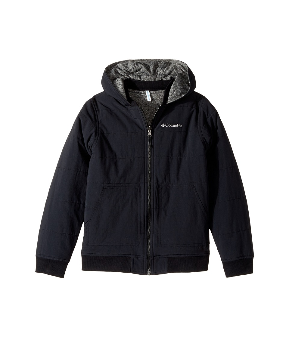 Columbia Kids - Evergreen Ridge Reversible Jacket (Little Kids/Big Kids) (Black/Black Heather) Boys Coat