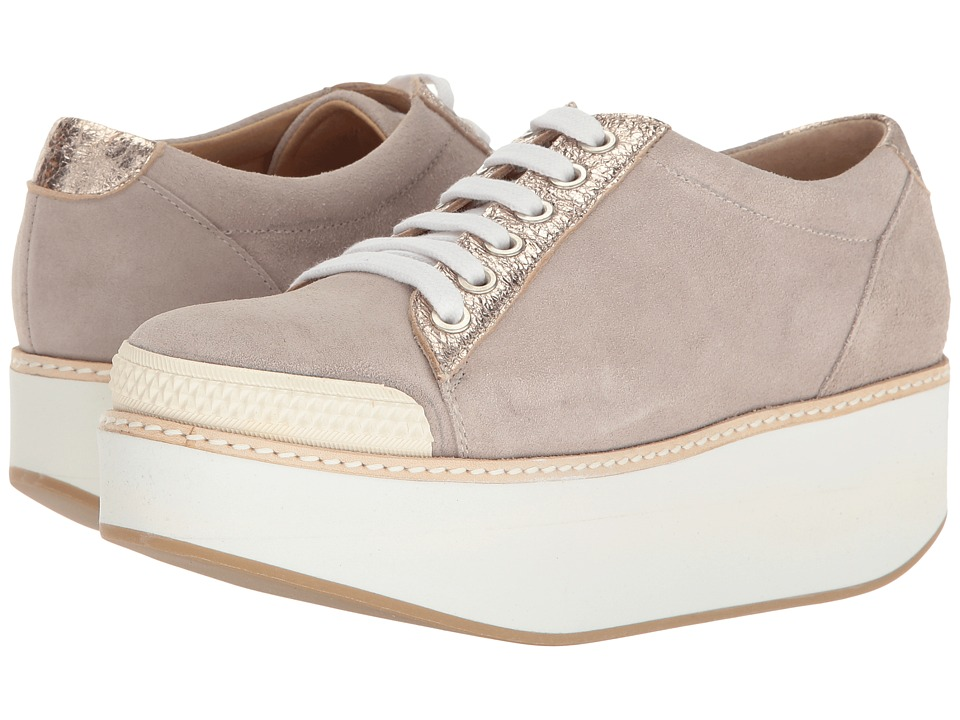 Shellys London Kirk Platform Oxford (Grey Suede) Women