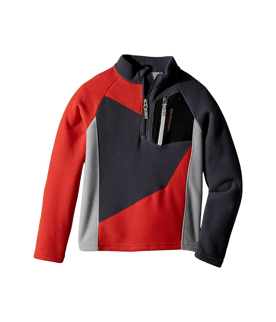 Obermeyer Kids - Pulsar Fleece Top (Toddler/Little Kids/Big Kids) (Red) Boys Fleece