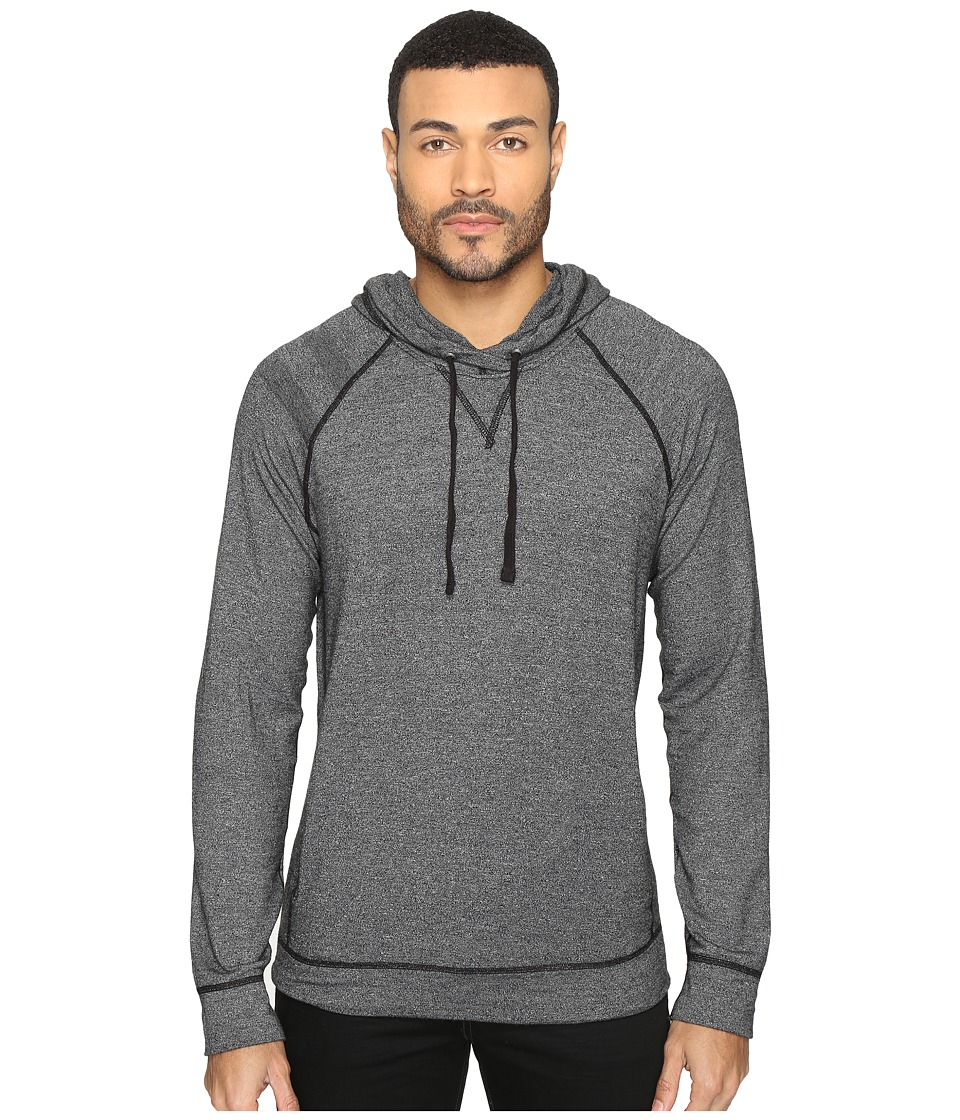 Splendid Mills Long Sleeve Graphic Hoodie (Black) Men