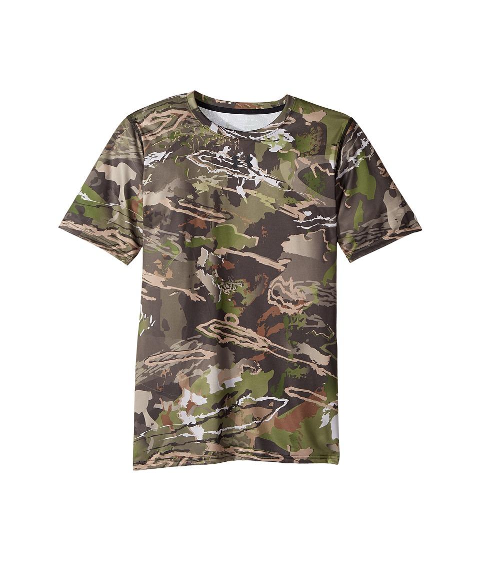 Under Armour Kids - UA Scent Control Tech Short Sleeve (Big Kids) (Ridge Reaper Camo Forest/Cannon/Black) Boys Clothing