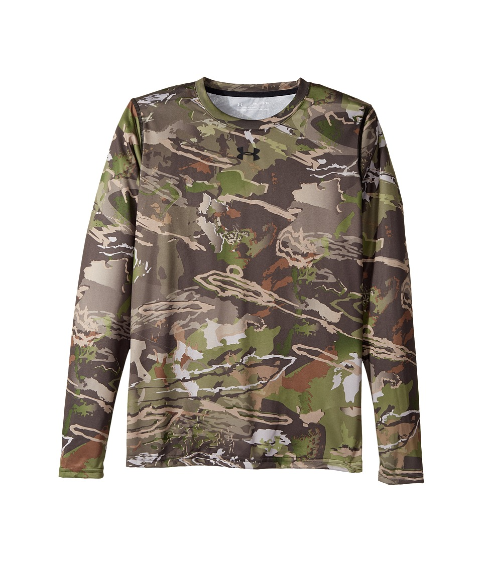Under Armour Kids - UA Scent Control Tech Long Sleeve (Big Kids) (Ridge Reaper Camo Forest/Cannon/Black) Boys Clothing