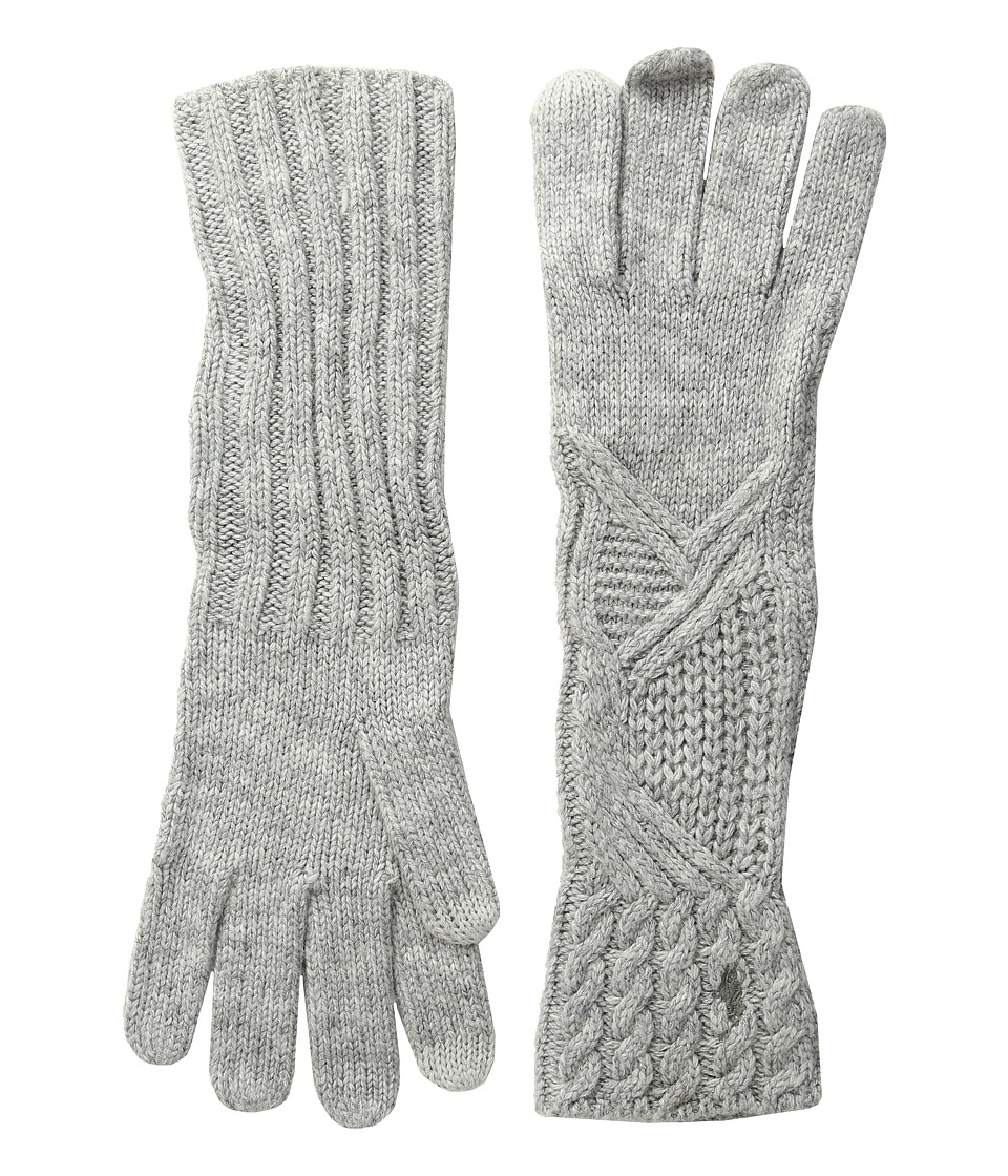 Polo Ralph Lauren Abstract Traveling Cable Gloves (Fawn Grey Heather) Extreme Cold Weather Gloves