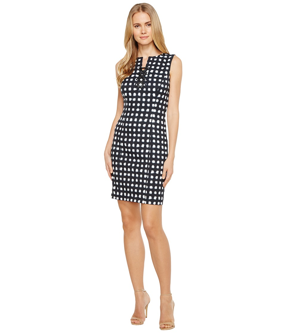 Tahari by ASL - Lace-Up Sheath Dress