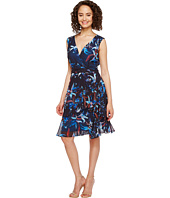 Tahari by ASL - Floral Printed Chiffon Dress