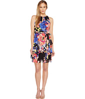 Tahari by ASL - Keyhole Floral Chiffon Dress