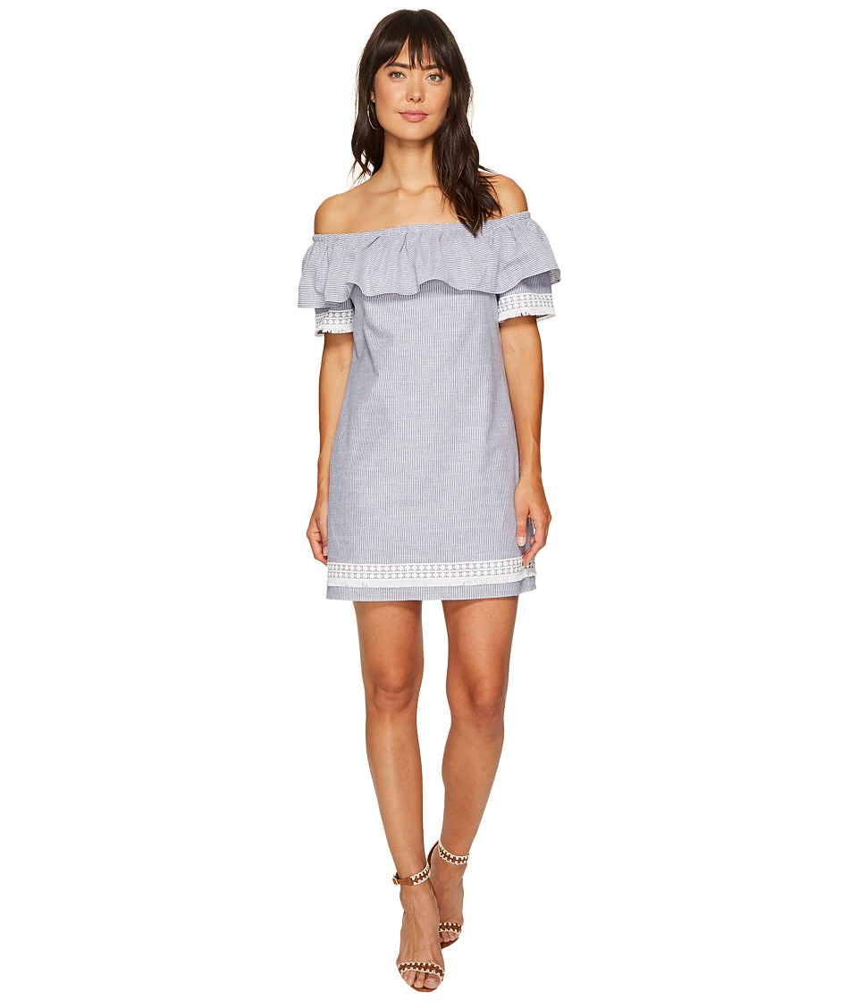 Tahari by ASL - Chambray Stripe Shift Dress