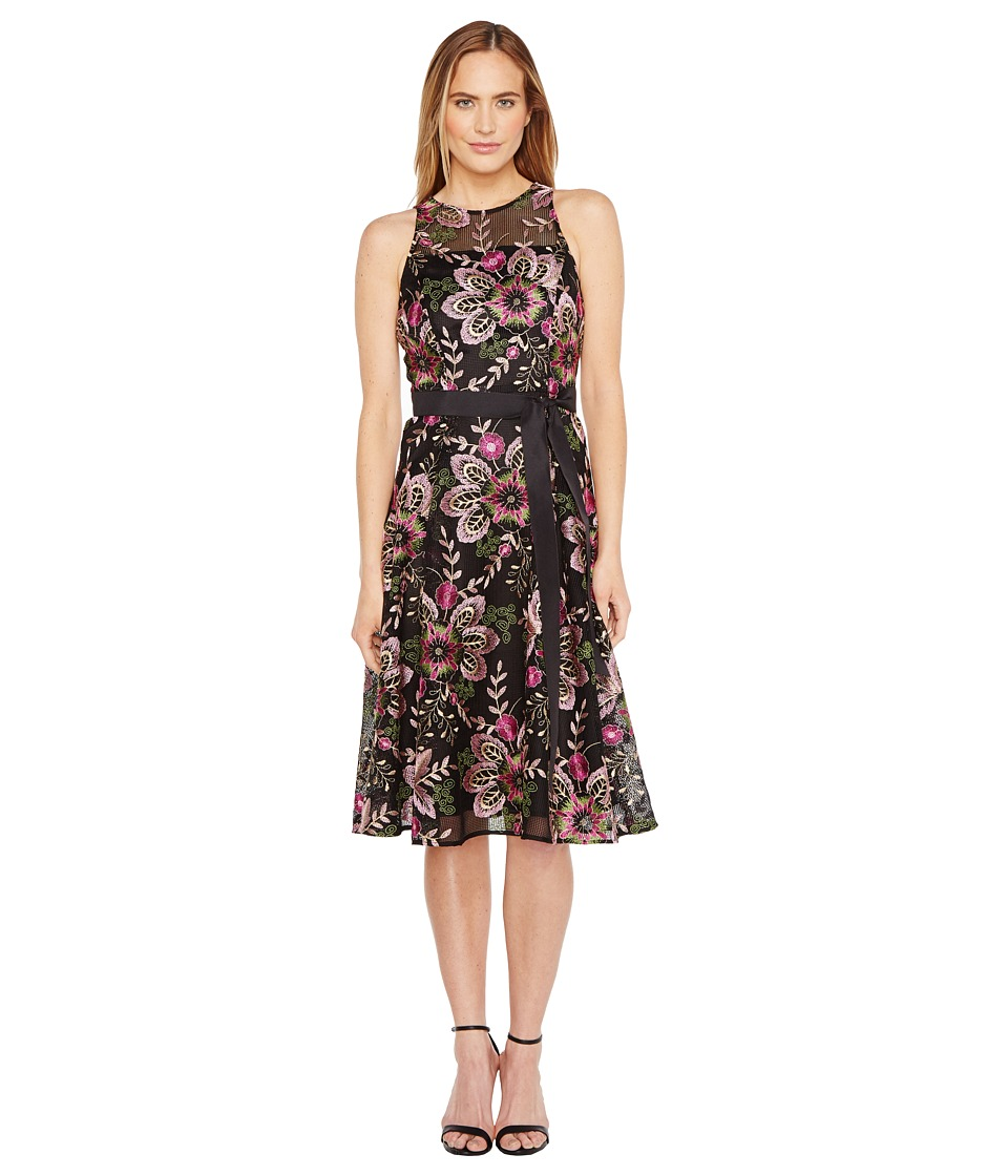 Tahari by ASL Tahari by ASL - Embroidered Mesh Tea-Length Dress