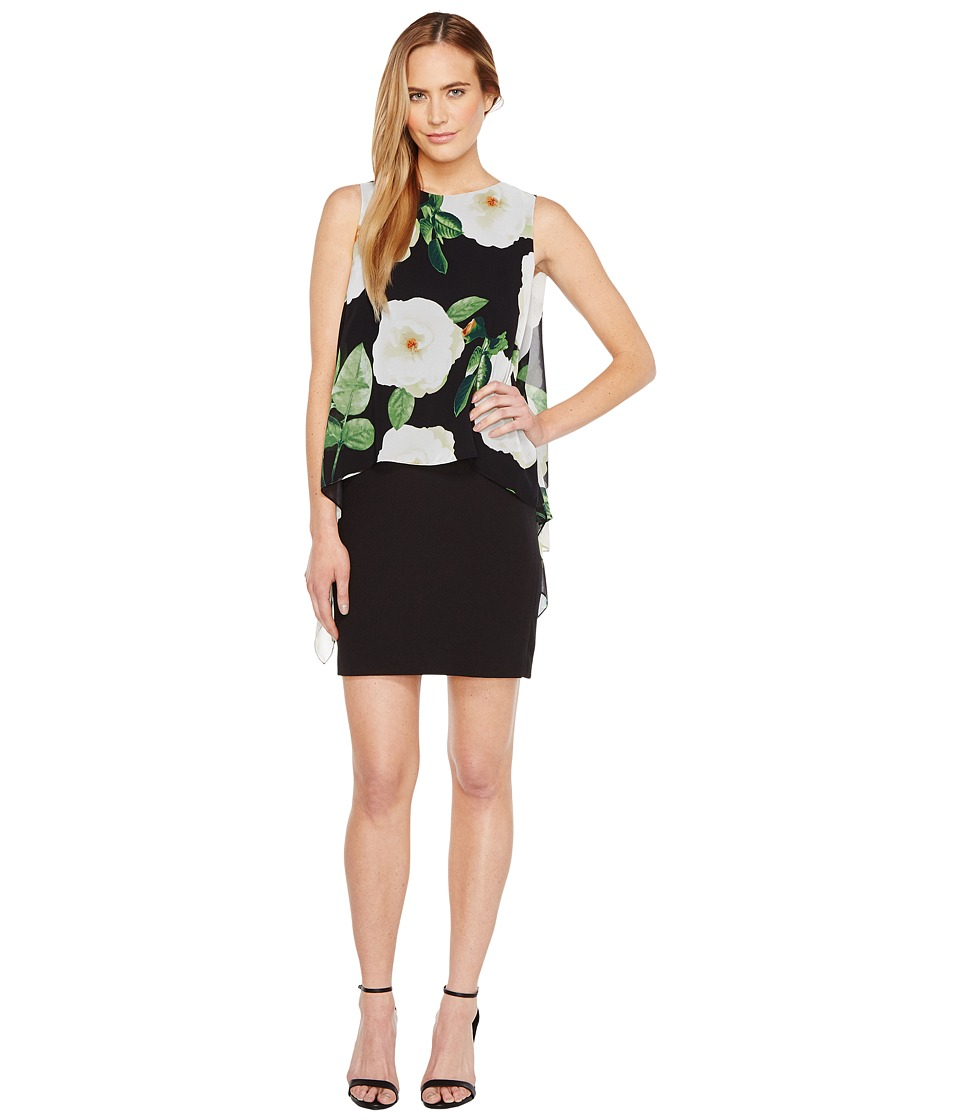 Tahari by ASL Tahari by ASL - Floral Overlay Sheath Dress