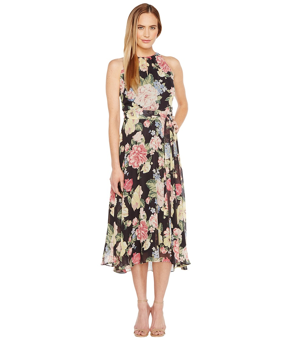 Tahari by ASL Tahari by ASL - Floral Chiffon Midi-Length Dress