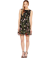 Tahari by ASL - Floral Embroidered Trapeze Dress