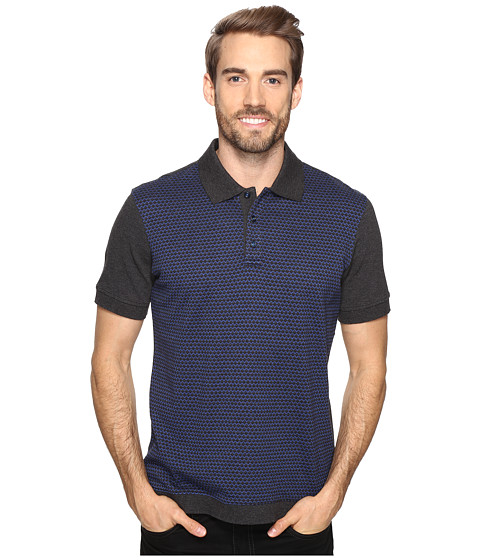 Robert Graham Ghiberti Short Sleeve Knit Polo - Charcoal